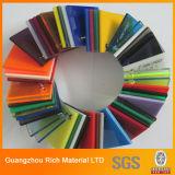 O plástico lustroso elevado da cor moldou a folha acrílica para a impressão de seda