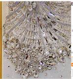 Vestido de casamento nupcial frisado da forma da noite do baile de finalistas de 2016 cristais (WD3001)
