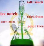 OEM / ODM Corona Recycler tubo de vidrio de color fumadores de pipa de agua