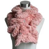 Donne Moda poliestere Faux Fur sciarpa con decorazione in pizzo