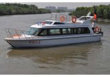 Cabin Twin Engine Propulsionのガラス繊維Passenger Boat Water Taxi
