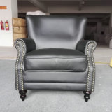 Silla de club, silla de cuero, sofá, silla del hotel, silla de la barra del cigarro (A888)