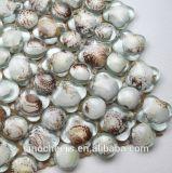 Resina de cristal del shell del mar de los azulejos de mosaico, mosaico blanco puro del shell de la perla para la decoración de la pared del tocador