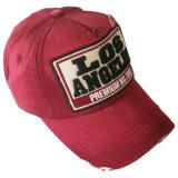 Gorra de béisbol lavada venta caliente con el Applique Gjwd1701