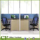 Estação de trabalho moderna cúbica do centro de chamadas do escritório de madeira de 2 Seater