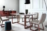 Tabela de jantar de madeira do mármore italiano da natureza da mobília da HOME do projeto