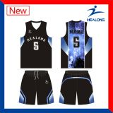 Veste barata do basquetebol dos meninos do Sublimation com Shorts