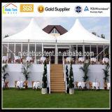 Azotea del claro del festival de Nigeria África Wedding la tienda más nueva blanca transparente de la ceremonia del diseño del deporte al aire libre del marco