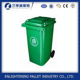 Escaninho de lixo plástico do HDPE com rodas