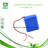 LED 플래쉬 등 토치를 위한 3s1p 18650 11.1V 리튬 건전지 팩