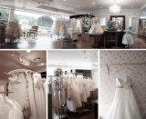 新しいアップリケの花嫁の服裁判所のトレインの結婚式の夜会服Z2029