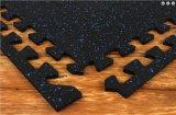 Il collegamento ricicla i pavimenti di gomma variopinti di ginnastica del lastricatore delle mattonelle della gomma