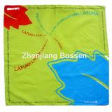 OEMの農産物はロゴの国旗の印刷された昇進の綿ヘッドスカーフをカスタマイズした