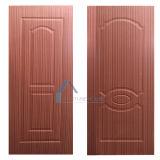 Piel de la puerta de madera contrachapada moldeada / laminada competitiva con la madera natural o madera de ingeniería