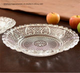 명확한 유리제 과일 큰 접시