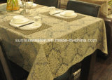 Tablecloth contínuo do jacquard 100%Polyester com PVC Placemats