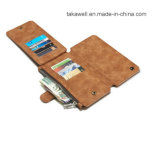 Samsung S6/S6 Edge/S6 Plus Mobile Leather Cover Case를 위한 14 Card Slot를 가진 2016 새로운 Design Phone Wallet Leather Case