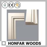 Moulage en bois amorcé blanc de tête de matériau de construction