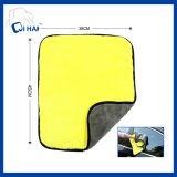 Toalla de limpieza coralina del coche del paño grueso y suave de las caras dobles (QHMD55090)