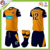Projeto feito sob encomenda de Jersey do futebol dos uniformes do futebol do Sublimation para homens e mulheres
