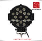 Lumière de travail de pouce 51W DEL de la lumière 7 de véhicule de DEL du véhicule DEL de SUV outre de la lumière de route et de la lumière pilotante