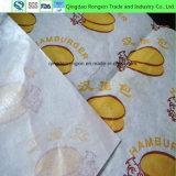 papel impermeable a la grasa del papel de la envoltura de la hamburguesa 20~40GSM
