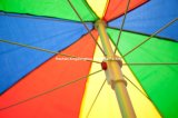 2.5m Rainbow Sun Beach Umbrella für Outdoor (BU-0060S)