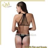 Verlockender neuer Entwurfs-Fabrik-Großverkauf-reizvoller Zapfen-Schwarz-Bikini