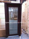 単一のGalsss Stainelssの鋼鉄ドア