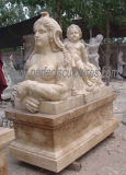 Sculpture de marbre antique découpée découpant la statue en pierre pour la décoration de jardin (SY-X1165)