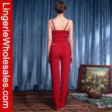De Sexy Nachtkleding van vrouwen Twee Stukken van het Kant van Strappy op Geplaatste Pyjama's