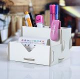 Factory Directly Sale Cosmetic Storage Box, Desktop Storage Box, madeira DIY Creative Pen Holder