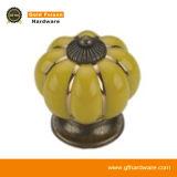 Maniglia di ceramica di tiro della maniglia in lega di zinco antica del Governo (C833 DY-OG)