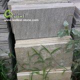 Tuile en bois de mur extérieur d'ardoise de qualité de champignon de couche de jaune en gros de surface