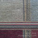Tissu 100% teint mince de fils de polyesters de Chenille pour la décoration