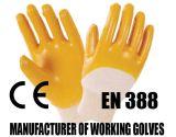 Guantes protectores del trabajo del látex de la seguridad de la alta calidad