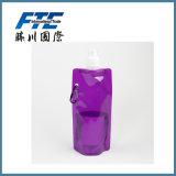 Botella de agua plegable plástica caliente al por mayor de la promoción de ventas