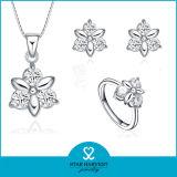 Установленные ювелирные изделия серебра снежинки Zircon AAA роскоши белые (J-0138)
