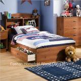 Storage Bed en bois de pin de chevreaux de pilote positionnement de chambre à coucher de 5 parties