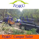 道の屋根のテントのキャンピングカートレーラーを離れたToruの品質
