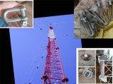 Communicatie van het Staal van de antenne Toren, de Driehoekige RadioToren van Telecommunicatie