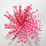Striped Chevron Pink DOT 100% Eco-Friendly Paper Straw