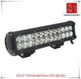 12inch 72W 도로 빛과 LED 모는 빛 떨어져 SUV 차 LED를 위해 방수 두 배 줄 LED 표시등 막대의 LED 차 빛