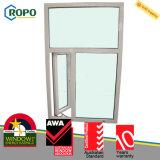 Energiesparendes Vinylflügelfenster-Glasfenster der Doppelverglasung-UPVC