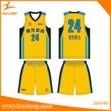 Формы трикотажных изделий баскетбола перехода сублимации Healong самые лучшие продавая