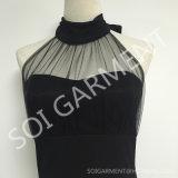 Heißer Verkaufhalter-geöffnetes zurück reizvolles Kleid für Damen (DR-70)