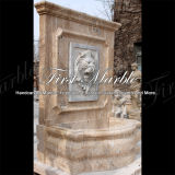 Fonte de parede de pedra de mármore Mf-1045 do cálcio da antiguidade do Travertine do jardim do granito