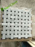 Mosaico de mármol blanco chino de Bianco Carrara de la producción