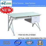 Neue Auslegung-weiße bereiftes Glas-Schreibtisch-u. Stahlfeld-Büro-Möbel-Tabelle