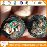 12/3 cabo resistente extra flexível de borracha de Soow, preto, cabo de Sjoow